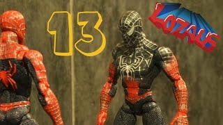 SPIDERMAN STOP MOTION Action Video Part 13 with BATMAN