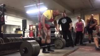 900 lb / 408 kg Deadlift Raw, Eric Lilliebridge