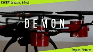 Review: DEMON Quadrocopter (Revell Control) - Unboxing,Test und Tipps