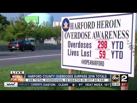 Heroin overdose numbers in Harford Co. surpass all of last year