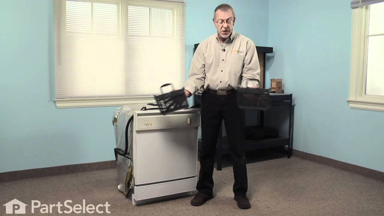 Replacing your Maytag Dishwasher Silverware Basket - Gray
