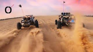 Glamis Shenanigans 2020 - PARAMOTOR dune flying and FPV DRONE DRAGS