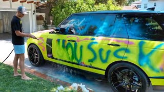 Someone spray painted my new car