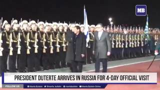 President Duterte arrives in Russia for 4-day official visit