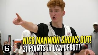 Nico Mannion SHOWS OUT at UAA NY Day 1!!