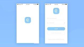 UI Animation Tutorial - Splash to Login Screen Design