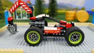 Lego Experimental Cars and Bulldozer, Concrete Mixer Excavator and Transforming for kids