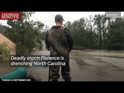 Deadly storm Florence is drenching North Carolina.