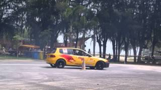 preview picture of video 'Songkhla Gymkhana R3 2014 Driver Kait'