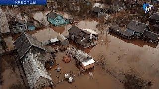 Большая вода пришла в Крестцы