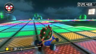 SNES Rainbow Road - 1:24.213 - NvK◇ダニー (Mario Kart 8 World Record)