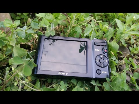 Sony cyber - shot DSC-W800 720p HD video camera beth 5× optical zoom unboxing and testing