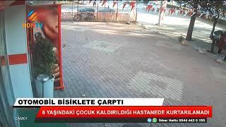 Konya'da otomobilin çarptığı bisikletli çocuk öldü! İşte kaza anı