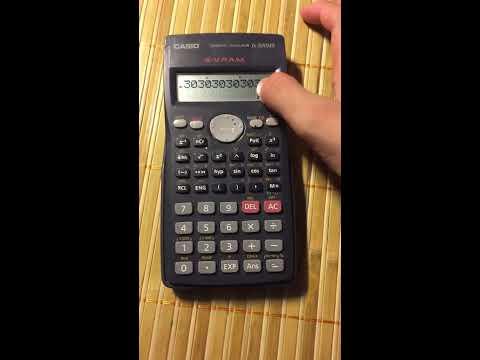 Ma trận 3 giây(máy tính CASIO fx-500ms)