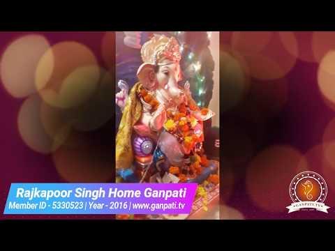 Rajkapoor Singh Home Ganpati Decoration Video