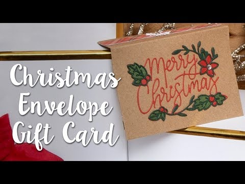How to Make a Christmas Envelope for Gift Cards!