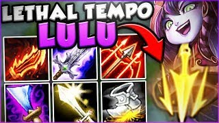 BUFFED LETHAL TEMPO MAKES MACHINE GUN LULU SO BUSTED! NEW LETHAL TEMPO LULU! - League of Legends