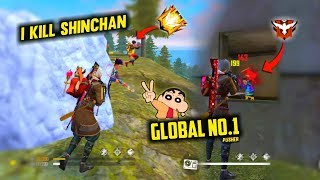 I Killed Shinchan with Grenade Unbelievable Moment - Garena Free Fire