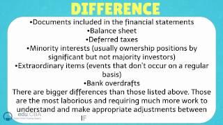 IFRS Vs. U.S.GAAP
