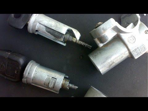 Снятие и разборка замка зажигания. Ремонт личинки замка на Opel Vectra B.