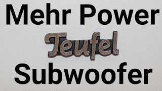 Bass Teufel Subwoofer & Denon Receiver