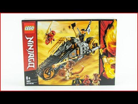 LEGO NINJAGO 70672 Cole's Dirt Bike Construction Toy - UNBOXING