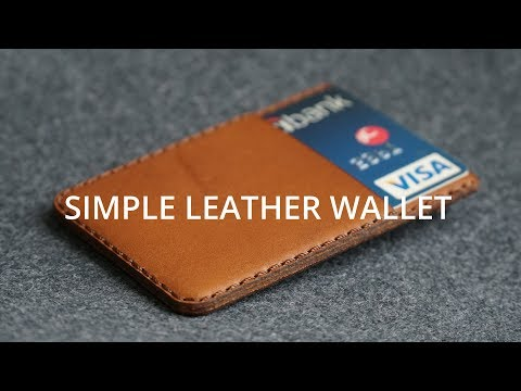 Making a Simple Card Leather Wallet [3:07]