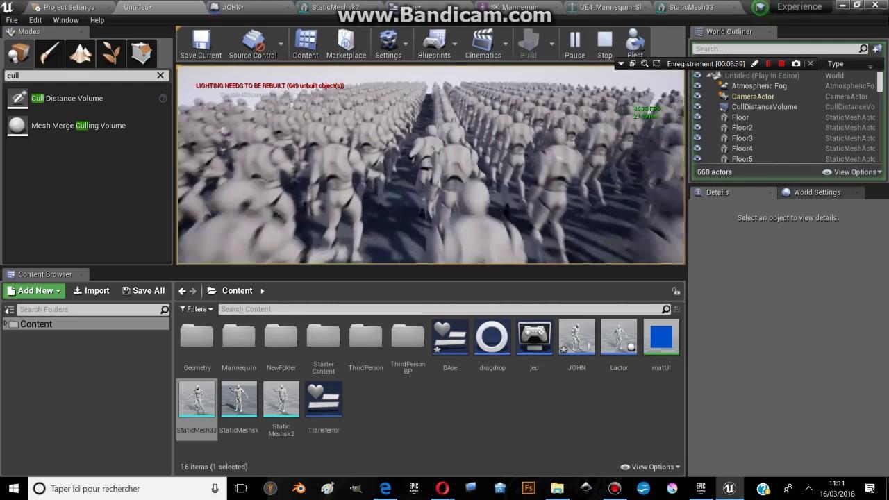TUTO UE4: Améliorer les performances d' Unreal Engine 4 | CULL VOLUME | PART 2