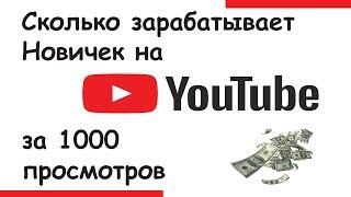 Сколько я зарабатываю на youtube и сколько получаю с 1000 просмотров в 2018 году.