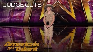 Lily Wilker: Amazing 11-Year-Old Impersonates Jungle Animals - America's Got Talent 2018