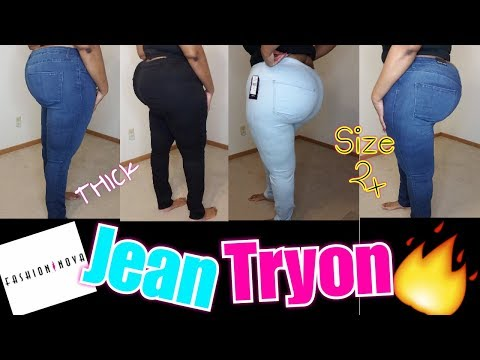 HUGE Fashion Nova Curve Jean Tryon Haul | Are They Worth The Hype? | Plus Size Fashion