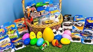 Hot Wheels Matchbox Easter Egg Surprise Toy Car Basket!