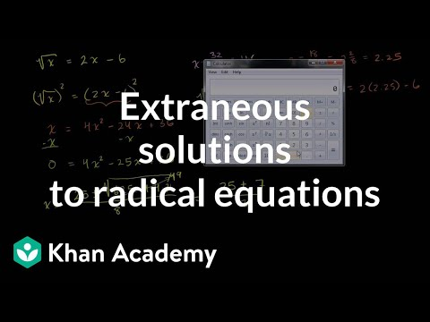 Intro To Square Root Equations Extraneous Solutions Video Khan Academy Square of 255 is 15. intro to square root equations