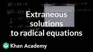 Extraneous Solutions to Radical Equations