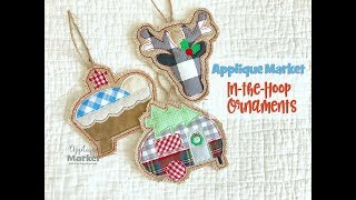Machine Embroidery Applique In The Hoop Christmas Ornament Simple And Easy Design By Applique Market