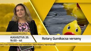 Programajánló / TV Szentendre / 2018.08.09.
