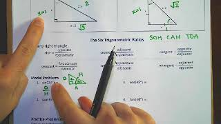 AP Calculus (18-19) - Summer Assignment - Special Right Triangles