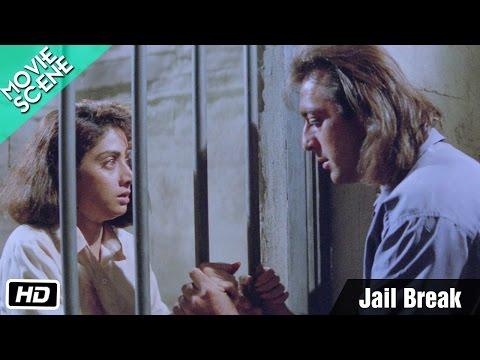 Jail Break - Movie Scene - Gumrah - Sanjay Dutt, Sridevi, Anupam Kher