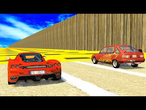 Air Speed Bumps High Speed Crashes #1 - BeamNG DRIVE