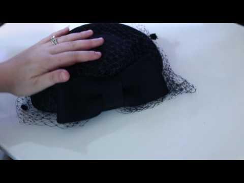 Women's Fascinator Wool Felt Pillbox Hat Cocktail Party Wedding Bow Veil #Review