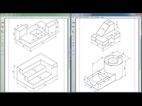 Pro Engineer Part Modeling Training Exercises for Beginners - 1 ...