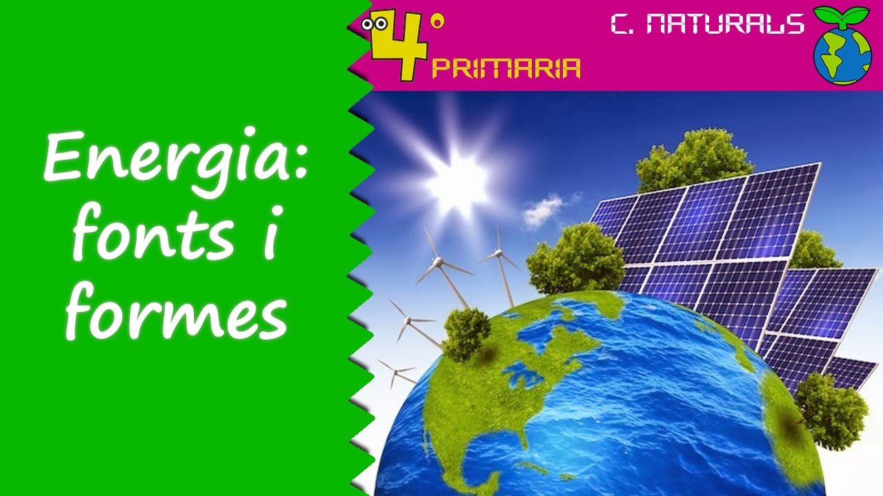 Ciències de la Naturalesa. 4t Primària. Tema 6. L'energia, fonts i formes