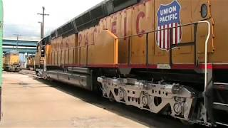 Inside the Worlds largest operating diesel locomotive Union Pacific DD40X 6936 Cheyenne, Wyoming.