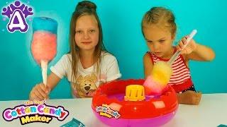 Сладкая вата Для детей Делаем вату Смешивание цветов Детские видео и игры для детей Друзяки.for kids
