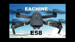 Eachine E58 720P | Folding FPV | Camera Drone Flight Test Review