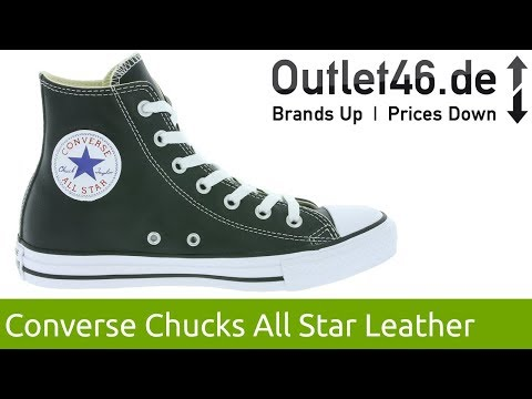 Converse Chuck Taylor All Star Leather l Zeitloser Echtleder-Sneaker l 360° Video l Outlet46.de