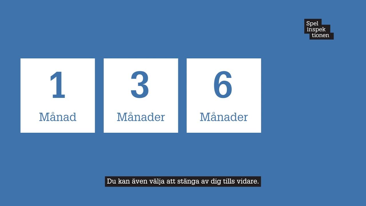 Spelpaus.se, stäng av dig från spel om pengar