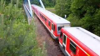 preview picture of video 'Wendlandbahn BR 628 in Doppeltraktion überquert den Elbeseitenkanal bei Wendisch Evern'