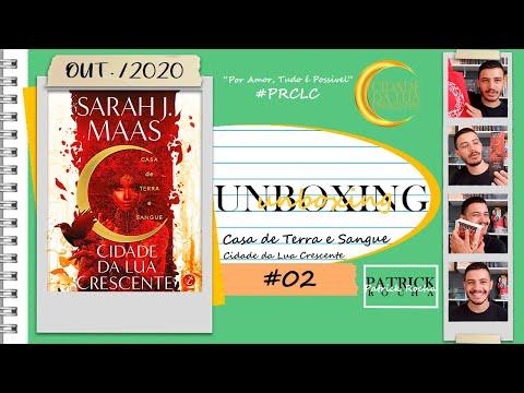 Unboxing: Cidade da Lua Crescente - Casa de Terra e Sangue (Vol. 1) (Sarah J. Maas) | Patrick Rocha