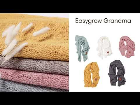 Easygrow Плед шерстяной Grandma Wave Ice